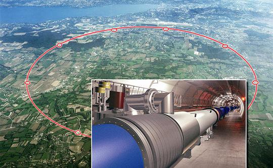 ジュネーブの地下に建造されたLHC(大型ハドロン衝突型加速器)は、東京のJR・山手線ほどもある巨大な実験施設